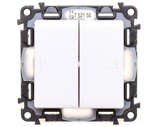 VALENA LIFE Łącznik schodowy IP44 z podświetleniem biały 752158