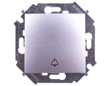 Simon 15 Przycisk /dzwonek/ aluminium metalizowane 1591659-026