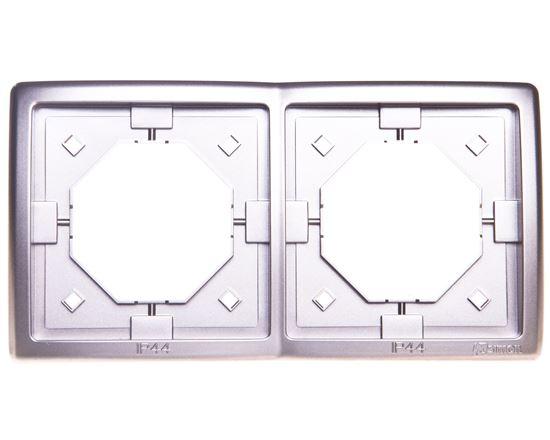 Simon Basic Standard Ramka bryzgoszczelna podwójna IP44 z uszczelką satynowa BMR2B/29