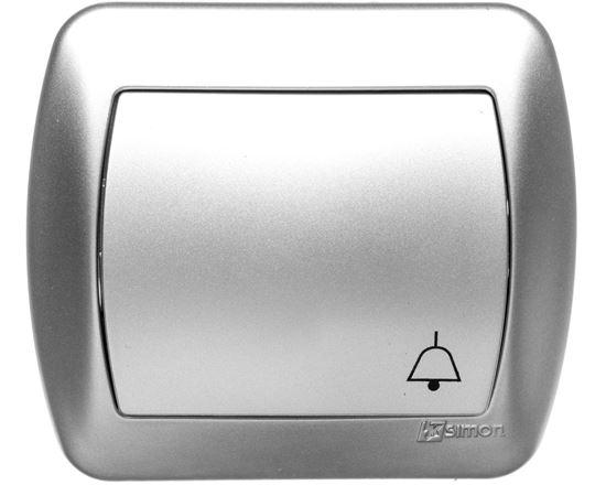 Simon Akord Przycisk /dzwonek/ aluminium metaliowane AD1/26