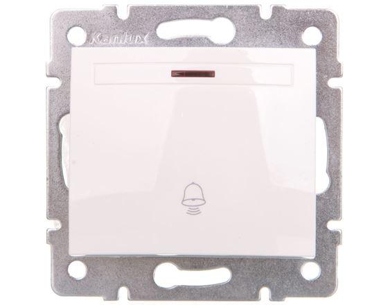 DOMO Łącznik zwierny dzwonek z LED szybkozłączka 10AX 250V biały 011080202 24720