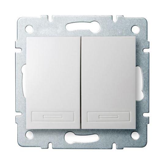 DOMO Łącznik zwierny podwójny szybkozłączka 10AX 250V biały 011022202 24714