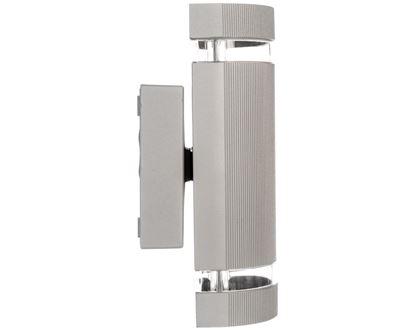 Oprawa ścienna dwukierunkowa SILVA GU10 max. 50W IP54 AC 220-240V 50/60Hz szara LD-SILVAGU10D-80