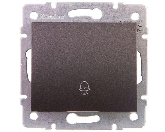 LOGI Łącznik zwierny dzwonek śrubowy 10AX 250V grafit 021030141 25249