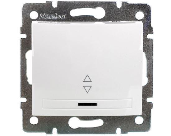 DOMO Łącznik schodowy z LED szybkozłączka 10AX 250V biały 011140202 24726