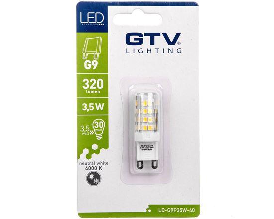 Żarówka LED SMD 2835 neutralna biała G9 3,5W AC 220-240V 360st. LD-G9P35W-40