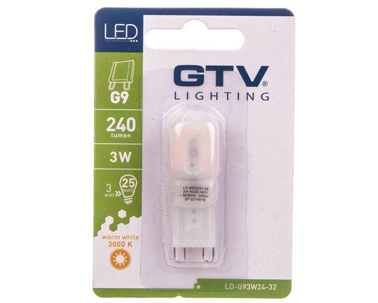 Żarówka LED SMD 2835 PLASTIK ciepła biała G9 3W AC 220-240V 360st. LD-G93W24-32