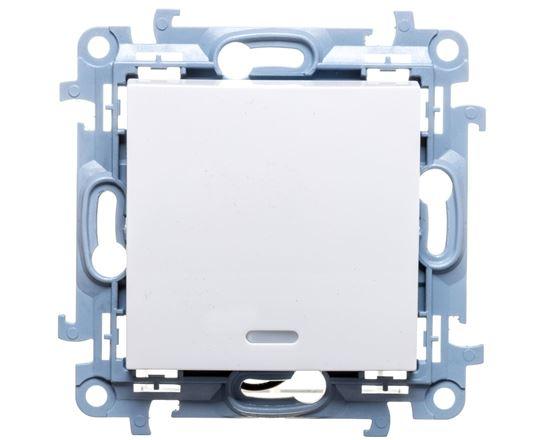Simon 10 łącznik jednobiegunowy z podświetleniem LED 10AX IP20 biały CW1L.01/11