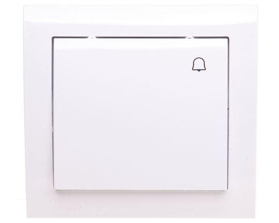 KIER Przycisk /dzwonek/ biały ŁP-6W/00