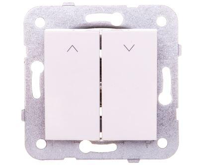 KARRE Przycisk żaluzjowy 2-klawiszowy biały 90963616