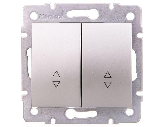 LOGI Łącznik podwójny schodowy śrubowy 10AX 250V srebrny 021060143 25192