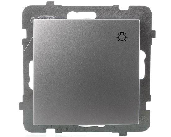 AS Przycisk /światło/ srebro ŁP-5G/m/18