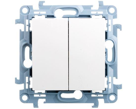 Simon 10 Łącznik świecznikowy 10AX IP20 biały CW5.01/11
