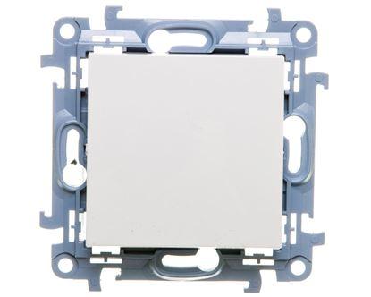 Simon 10 Łącznik jednobiegunowy 10AX IP20 biały CW1.01/11