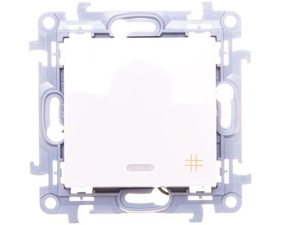 Simon 10 Łącznik krzyżowy z podświetleniem LED 10AX IP20 biały CW7L.01/11