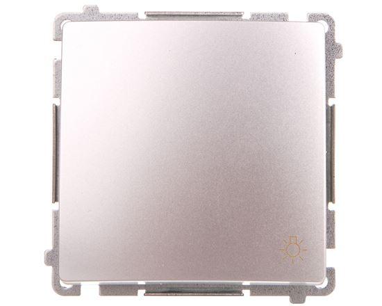 Simon Basic Przycisk światło 10AX 250V zaciski śrubowe srebrny mat BMS1.01/43