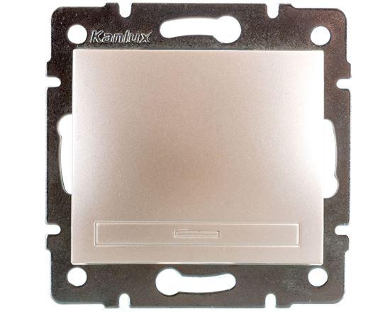 DOMO Łącznik jednobiegunowy szybkozłączka 10AX 250V perłowy biały 011000230 24947
