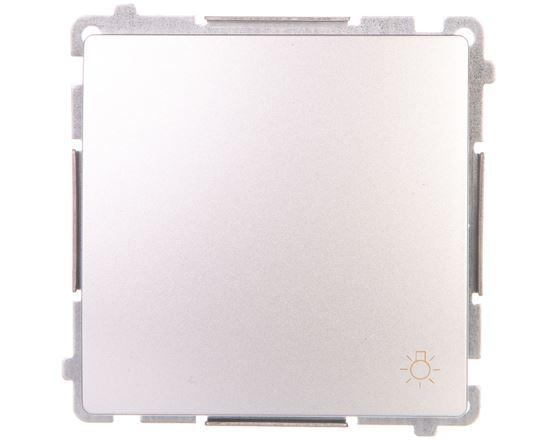 Simon Basic Przycisk światło 16AX 250V zaciski śrubowe srebrny mat BMS1A.01/43