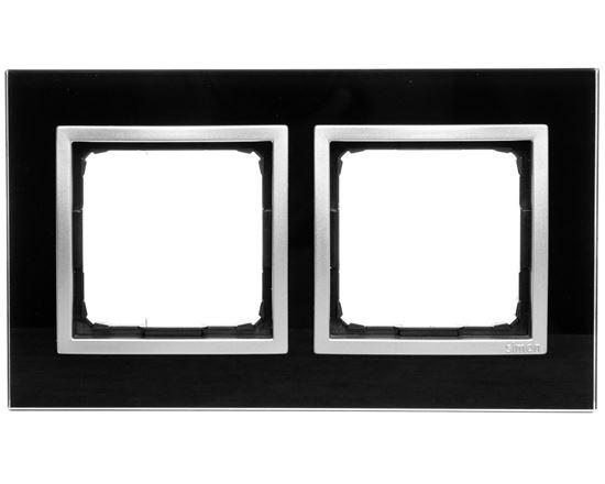 Simon 54 Nature Ramka podwójna szkło KSIĘŻYCOWA LAWA DRN2/74