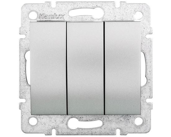 LOGI Łącznik potrójny śrubowy 10AX 250V srebrny 021090143 25195