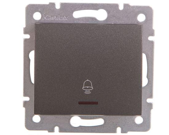 LOGI Łącznik zwierny dzwonek z LED śrubowy 10AX 250V grafit 021080141 25253