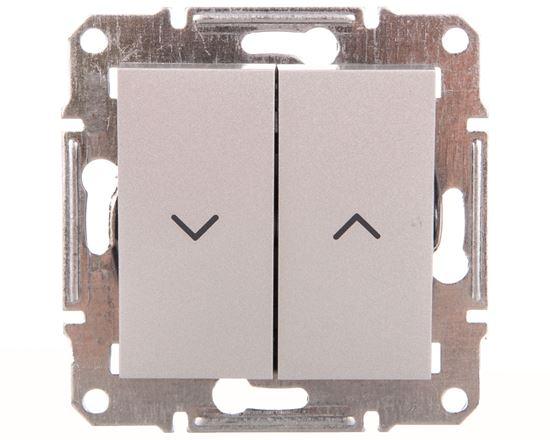 ASFORA Przycisk żaluzjowy bez ramki aluminium EPH1300161