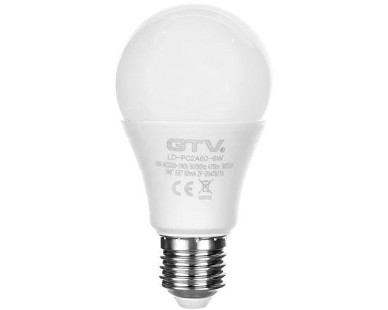 Żarówka LED E27 6W 470lm 3000K AC230V 160st. LD-PC2A60-6W
