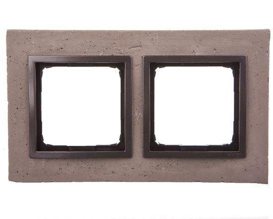 Simon 54 Nature Ramka podwójna beton - SZORSTKA PRZYJAŹŃ DRN2/97