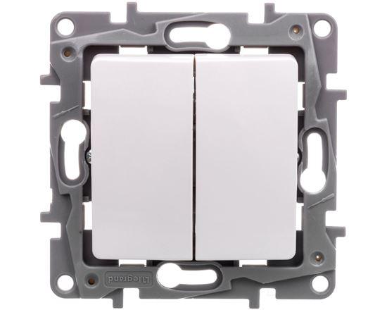 NILOE Łącznik schodowy 10 AX + przycisk 6 A biały 764509