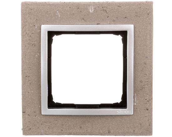 Simon 54 Nature Ramka pojedyncza beton - MOKRA ROBOTA DRN1/96