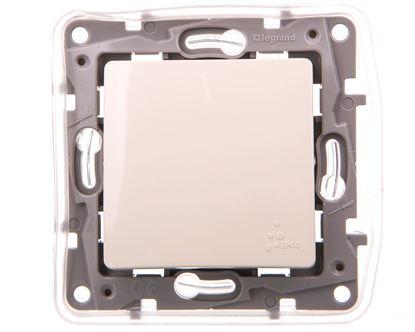 NILOE Przycisk pojedynczy IP44 6 A kremowy 764625