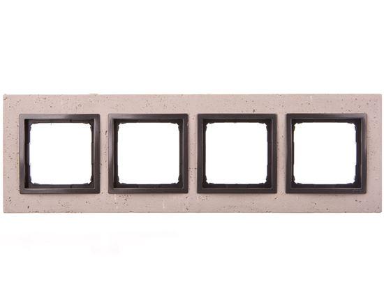 Simon 54 Nature Ramka poczwórna beton - FUNDA MENTE DRN4/93
