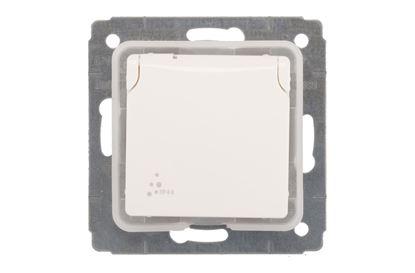 CARIVA Gniazdo pojedyncze z/u 16A IP44 białe 773628
