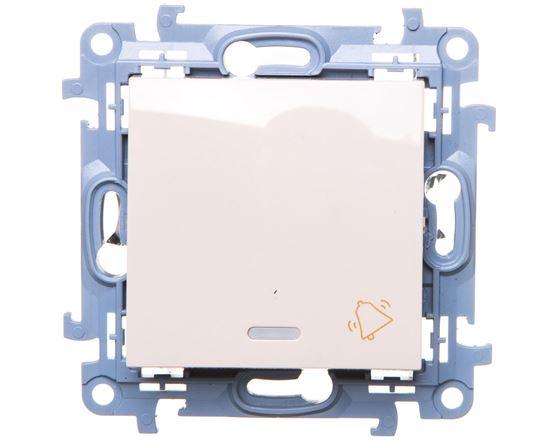 Simon 10 Przycisk /dzwonek/ z podświetleniem LED kremowy CD1L.01/41