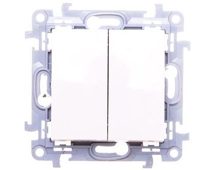 Simon 10 Przycisk podwójny biały CP2.01/11