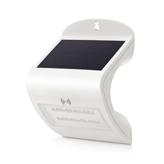 Lampa solarna ścienna z czujnikiem ruchu i zmierzchu 2W 20-230lm 6000K SB-T001
