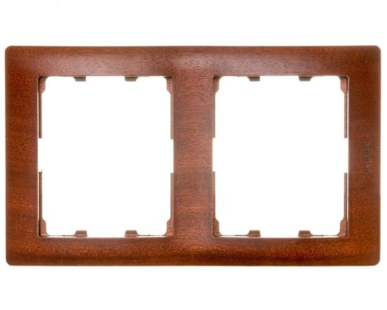 SISTENA LIFE Ramka podwójna pionowa mahogany 771986