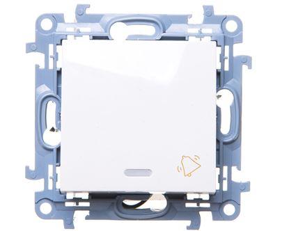 Simon 10 Przycisk /dzwonek/ z podświetleniem LED biały CD1L.01/11