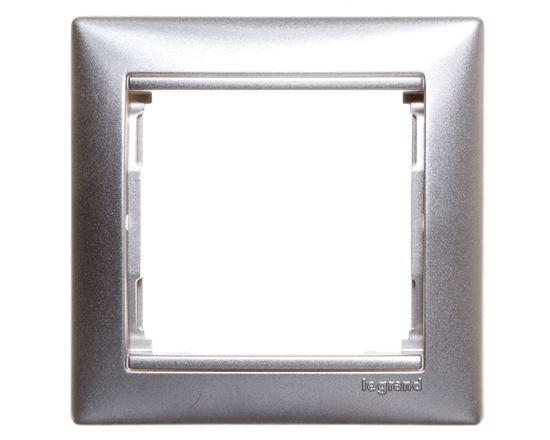 VALENA Ramka pojedyncza aluminium 770151