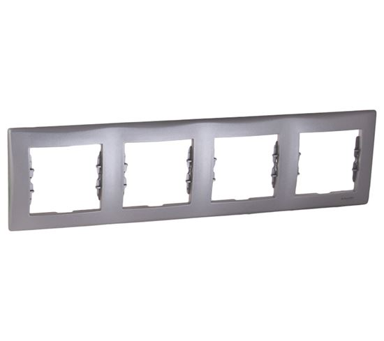 Sedna Ramka poczwórna aluminium pozioma SDN5800760