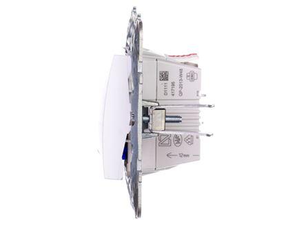 Unica Plus Przycisk pojedynczy podswietlany biel polarna IP20 MGU50.206.18NZ