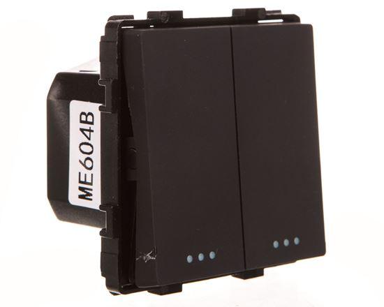 TouchMe Mechanizm łącznik świecznikowy czarny ME604B