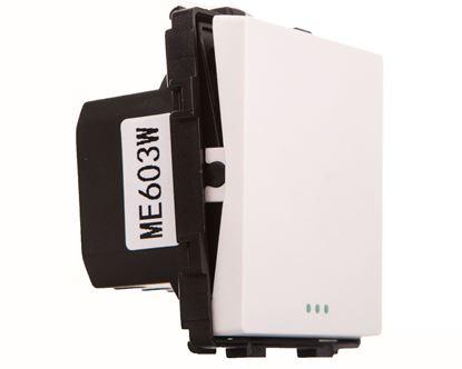 TouchMe Mechanizm łącznik pojedynczy krzyżowy biały ME603W