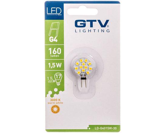 Żarówka LED SMD 2835 ciepła biała G4 1.5W 12 V DC kąt świecenia 180 stopni 160lm 3000K LD-G4015W-30