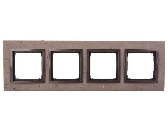 Simon 54 Nature Ramka poczwórna beton - SZORSTKA PRZYJAŹŃ DRN4/97