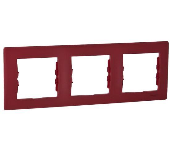 Sedna Ramka potrójna czerwona pozioma SDN5800541
