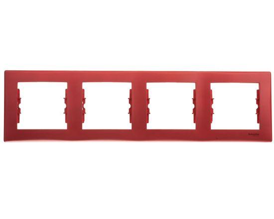 Sedna Ramka poczwórna czerwona pozioma SDN5800741