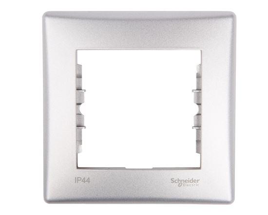 Sedna Ramka pojedyncza aluminium IP44 SDN5810160