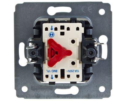 CARIVA Przycisk jednobiegunowy mechanizm z plakietką kremowy IP20 przycisk 1x 773713