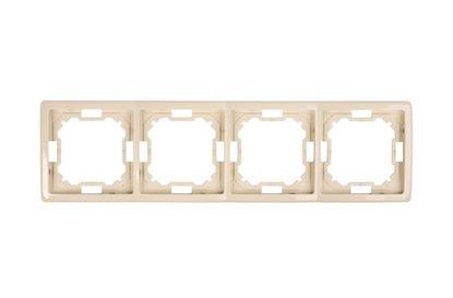 Simon Basic Standard Ramka poczwórna uniwersalna beżowa BMR4/12